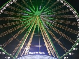 La roue de Paris en vert pour la Saint-Patrick.©biboucheetbibouchon