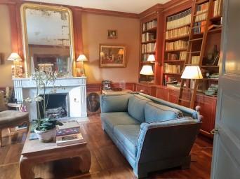 Salon de lecture Château de Courban ©biboucheetbibouchon