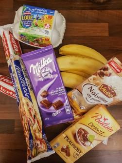 Ingrédients recette croissant chocolat banane ©biboucheetbibouchon