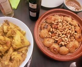Tajine de poulet, aux poires, aux pruneaux, aux abricots et aux amandes ©biboucheetbibouchon