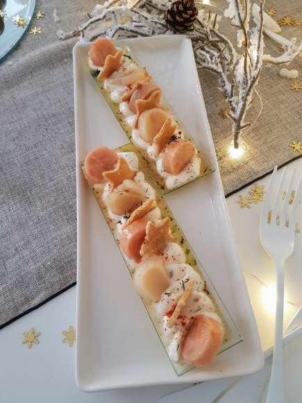 Duo de saumon confit et noix de Saint-Jacques Picard - 2 pièces - 7,95 € ©biboucheetbibouchon