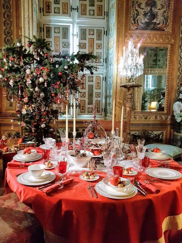 Château de Vaux-le-Vicomte, La table de Noël de Villerboy and Boch ©biboucheetbibouchon